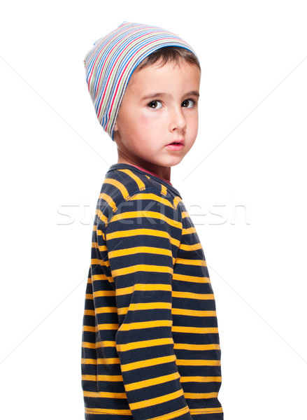 Poor homeless orphan child Stock photo © pekour
