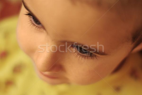 Szempilla közelkép szemöldök baba alszik törődés Stock fotó © pekour