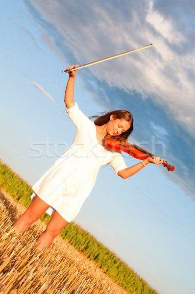 скрипки лук улице области Сток-фото © pekour