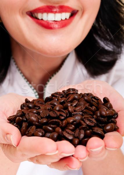 Coffee and smile Stock photo © pekour