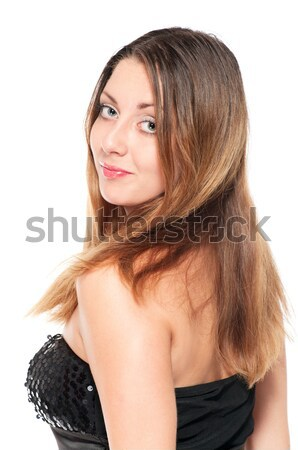 Young woman in evening dress turning around Stock photo © pekour