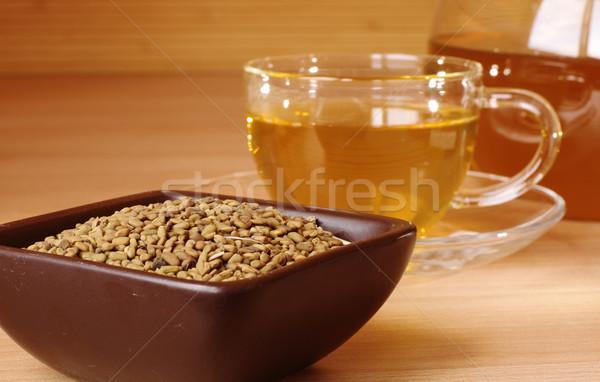 Egipcjanin żółty herbaty surowy szkła kubek Zdjęcia stock © pekour