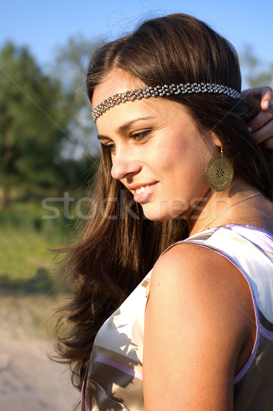 Hippie girl outdoors portrait Stock photo © pekour