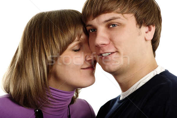 любви изолированный белый семьи человека Сток-фото © pekour