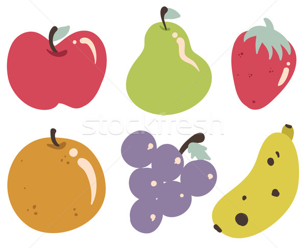 Tropical Fruits Collection Stock photo © penguinline