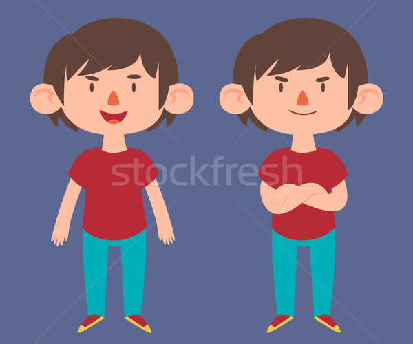 Cute Boy in Different Poses Stock photo © penguinline