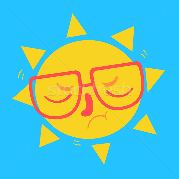Cute Geek Sun Disappointed Stock photo © penguinline