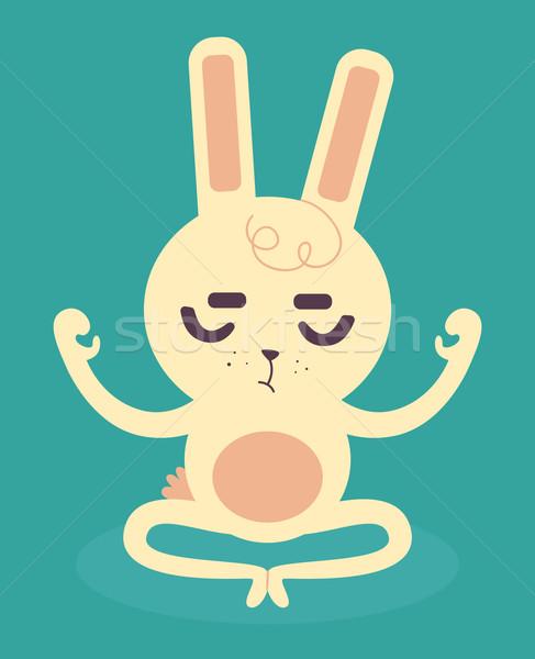 Serene Bunny Meditating Stock photo © penguinline
