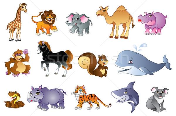 Dieren illustratie cute bos wilde dieren paard Stockfoto © penivajz