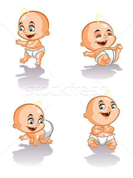 甘い 赤ちゃん 実例 徒歩 笑みを浮かべて ストックフォト © penivajz