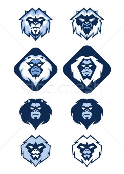 ロゴ 実例 いくつかの 異なる 白 青 ストックフォト © penivajz