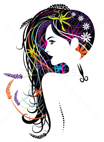 長髪 美しい 女性 スタジオ 実例 ストックフォト © penivajz