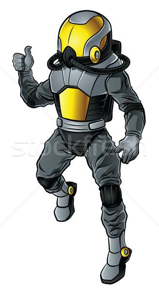 現代 宇宙飛行士 実例 黒白 金 ストックフォト © penivajz