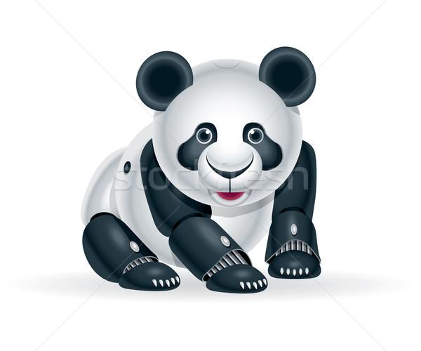 Robot panda welp illustratie cute weinig Stockfoto © penivajz