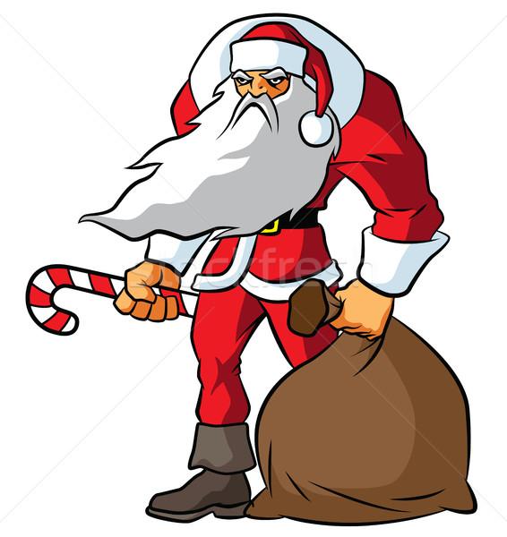 Groot kerstman illustratie boos Stockfoto © penivajz