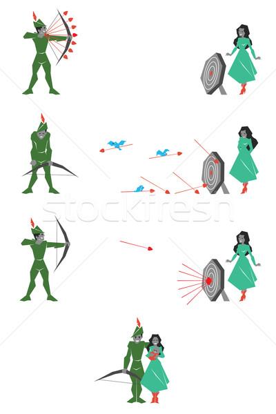 緑 射手 実例 ターゲット 女性 幸せ ストックフォト © penivajz