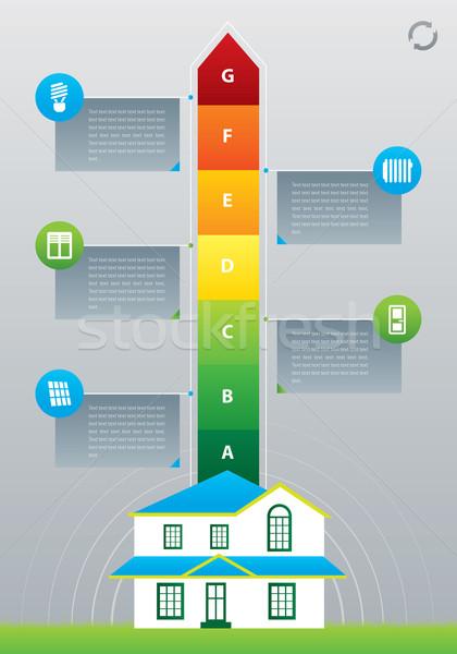 エネルギー効率 矢印 後ろ 家 実例 色 ストックフォト © penivajz