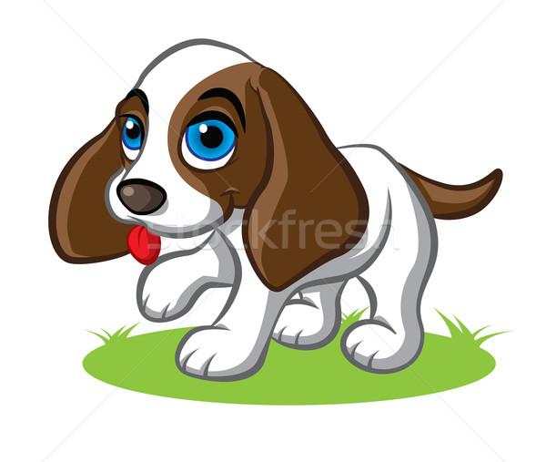 Cute puppy illustratie weinig groot Stockfoto © penivajz