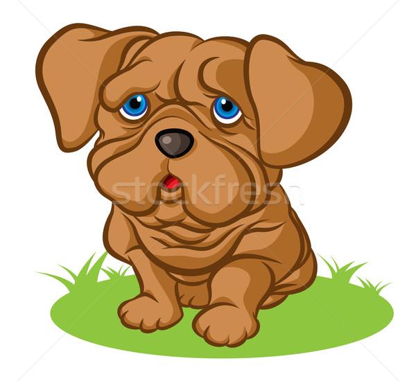 Triest puppy illustratie weinig Stockfoto © penivajz