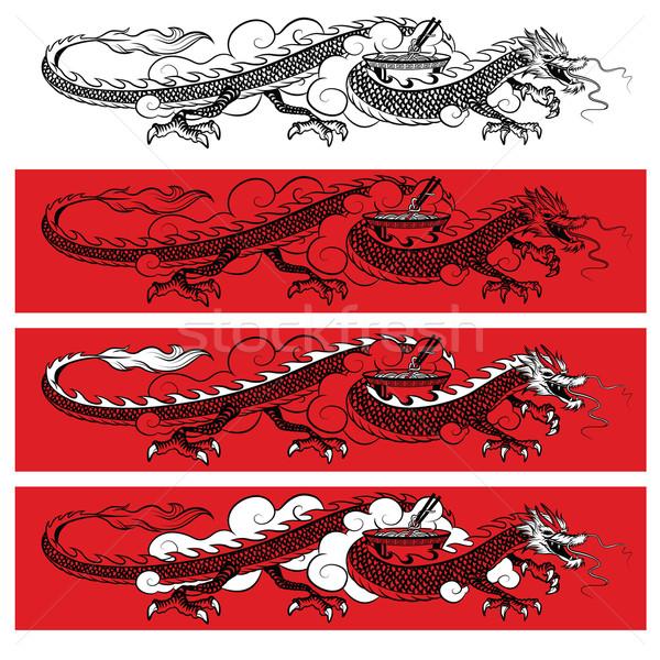 黒 龍 実例 伝統的な 赤 ストックフォト © penivajz