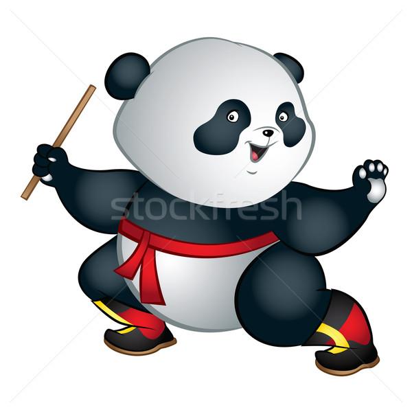 Panda örnek büyük sevimli Stok fotoğraf © penivajz