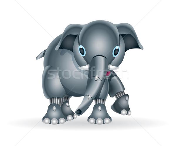Robot olifant welp illustratie cute weinig Stockfoto © penivajz