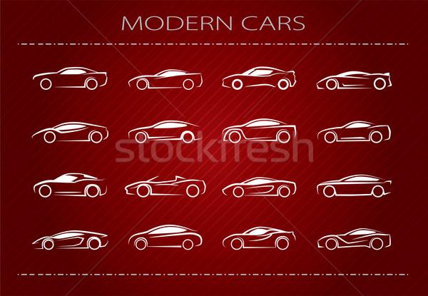 Modern araba logo örnek kırmızı Stok fotoğraf © penivajz