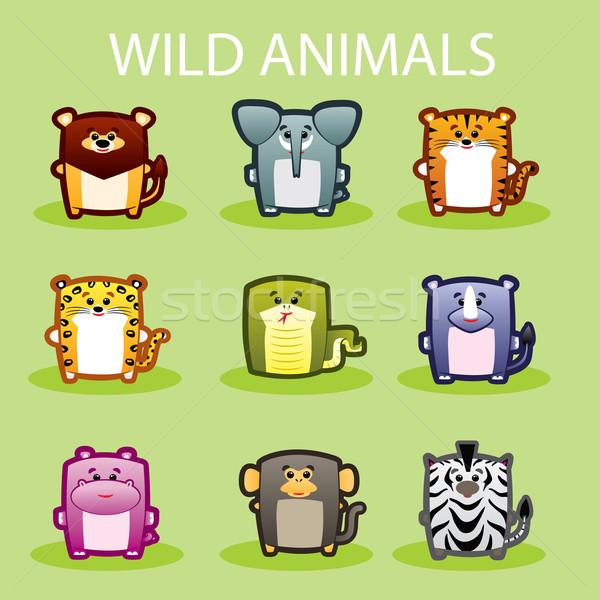 野生動物 実例 かわいい 緑 虎 象 ストックフォト © penivajz