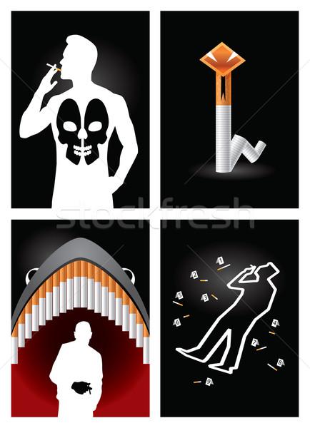 Posters verscheidene ideeën reclame campagne haai Stockfoto © penivajz