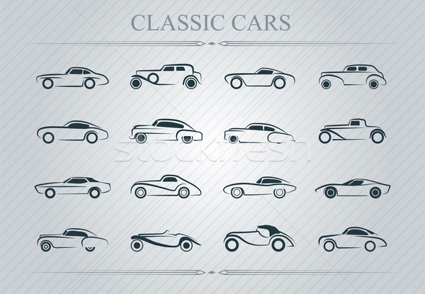 Classic cars logo Stock photo © penivajz