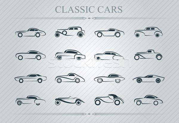 классический автомобилей логотип иллюстрация свет Сток-фото © penivajz