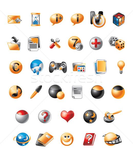 携帯 アイコン 実例 かわいい 電話 図書 ストックフォト © penivajz