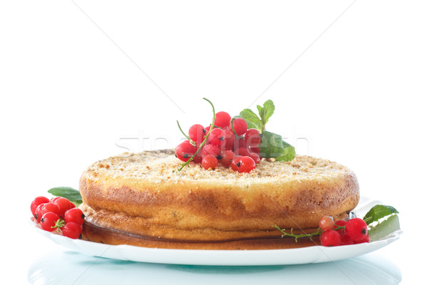 sweet curd pudding with berries Stock photo © Peredniankina