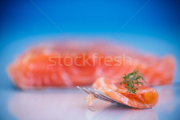 salted salmon Stock photo © Peredniankina