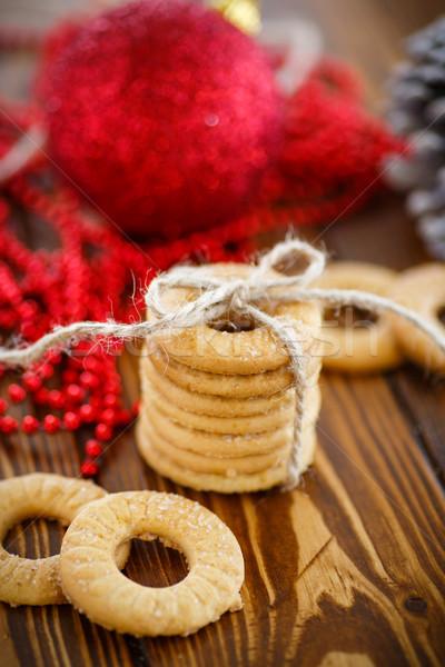 Karácsony sütik dekoráció asztal fa étel Stock fotó © Peredniankina