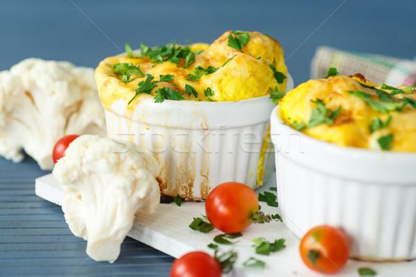 Karfiol sült sajt sütés edény asztal Stock fotó © Peredniankina