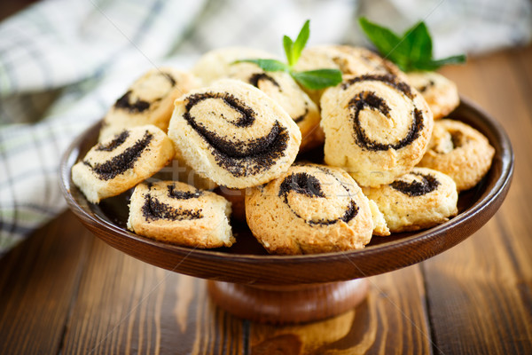 delicious crumbly biscuits with poppy seeds  Stock photo © Peredniankina
