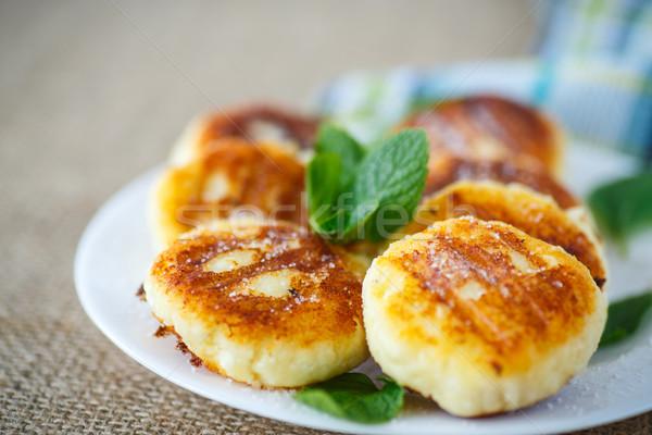 Kaas plaat glazuursuiker voedsel achtergrond Stockfoto © Peredniankina