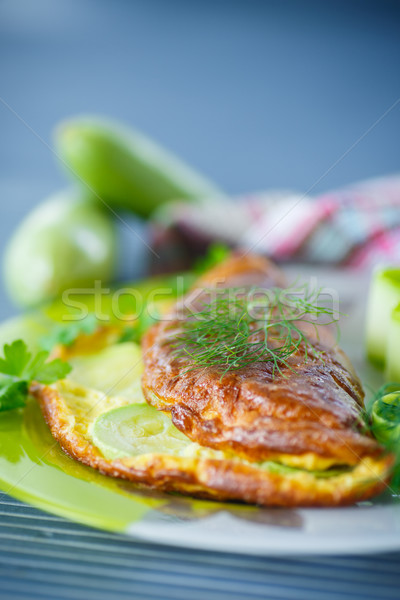 omelette with zucchini Stock photo © Peredniankina