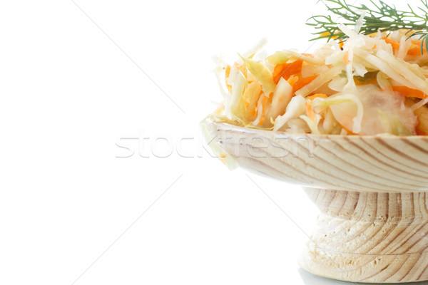 кислая капуста капуста морковь пластина белый Сток-фото © Peredniankina
