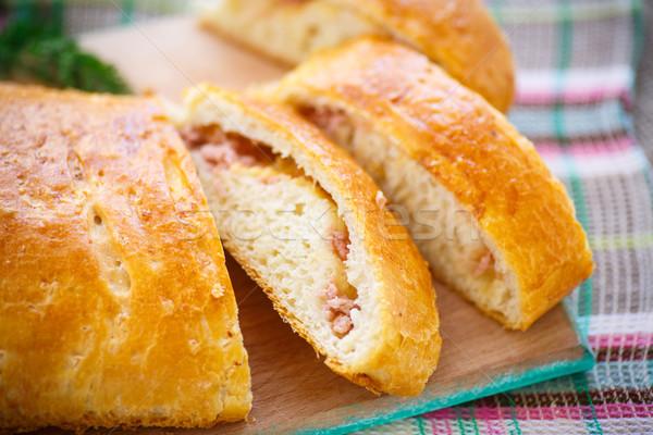 хлеб фаршированный сыра колбаса сэндвич Сток-фото © Peredniankina