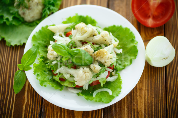 salad with cauliflower, tomatoes and herbs Stock photo © Peredniankina