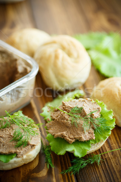 pate with bread Stock photo © Peredniankina