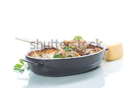 Stock fotó: Zöldségleves · zöldhagyma · tojás · fehér · egészség · konyha