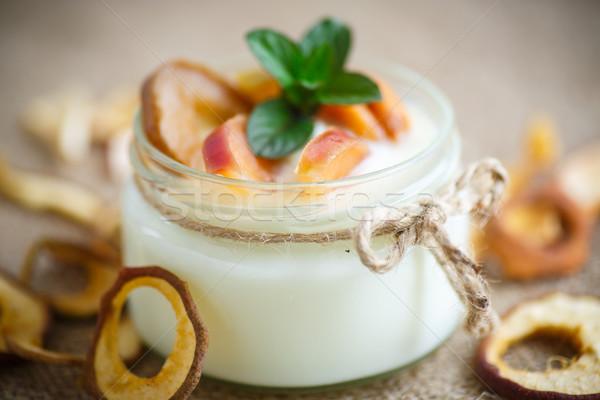ホーム 甘い ヨーグルト フルーツ 調理済みの ストックフォト © Peredniankina