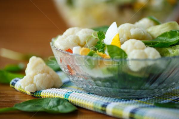 Nyár diéta saláta karfiol tojások paradicsomok Stock fotó © Peredniankina
