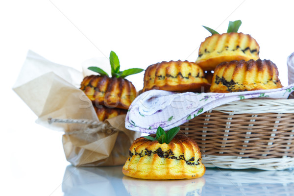 muffin with cheese stuffing poppy Stock photo © Peredniankina