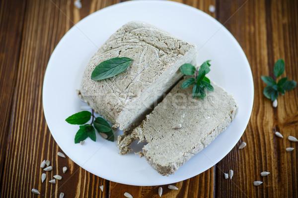 Cortar peça doce sementes prato comida Foto stock © Peredniankina