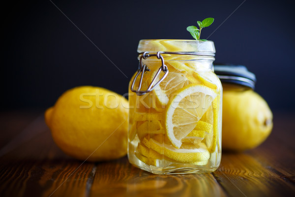 Pickled lemons in sugar syrup Stock photo © Peredniankina