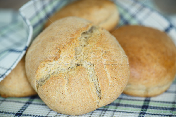 bread buns from yeast dough Stock photo © Peredniankina